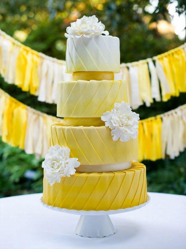 svadbeni torti so ombre efekt