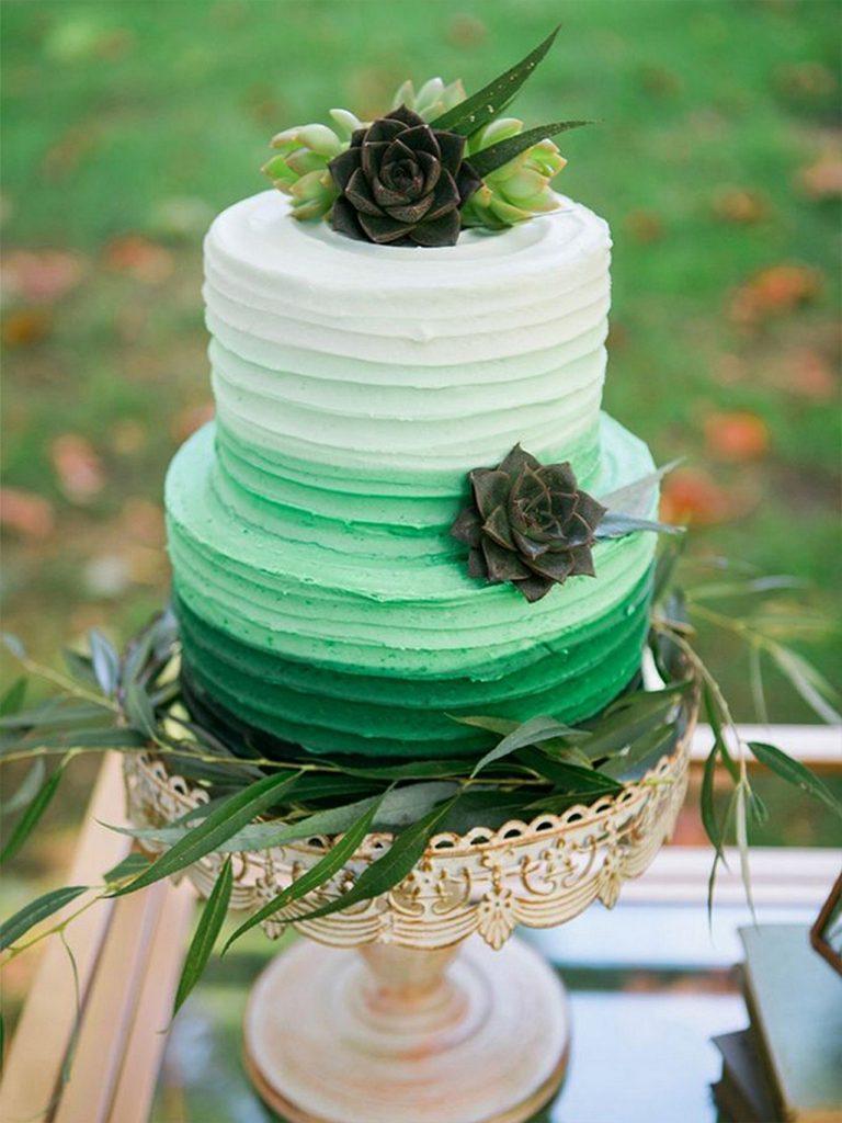 nevestinska torta so sukulenti
