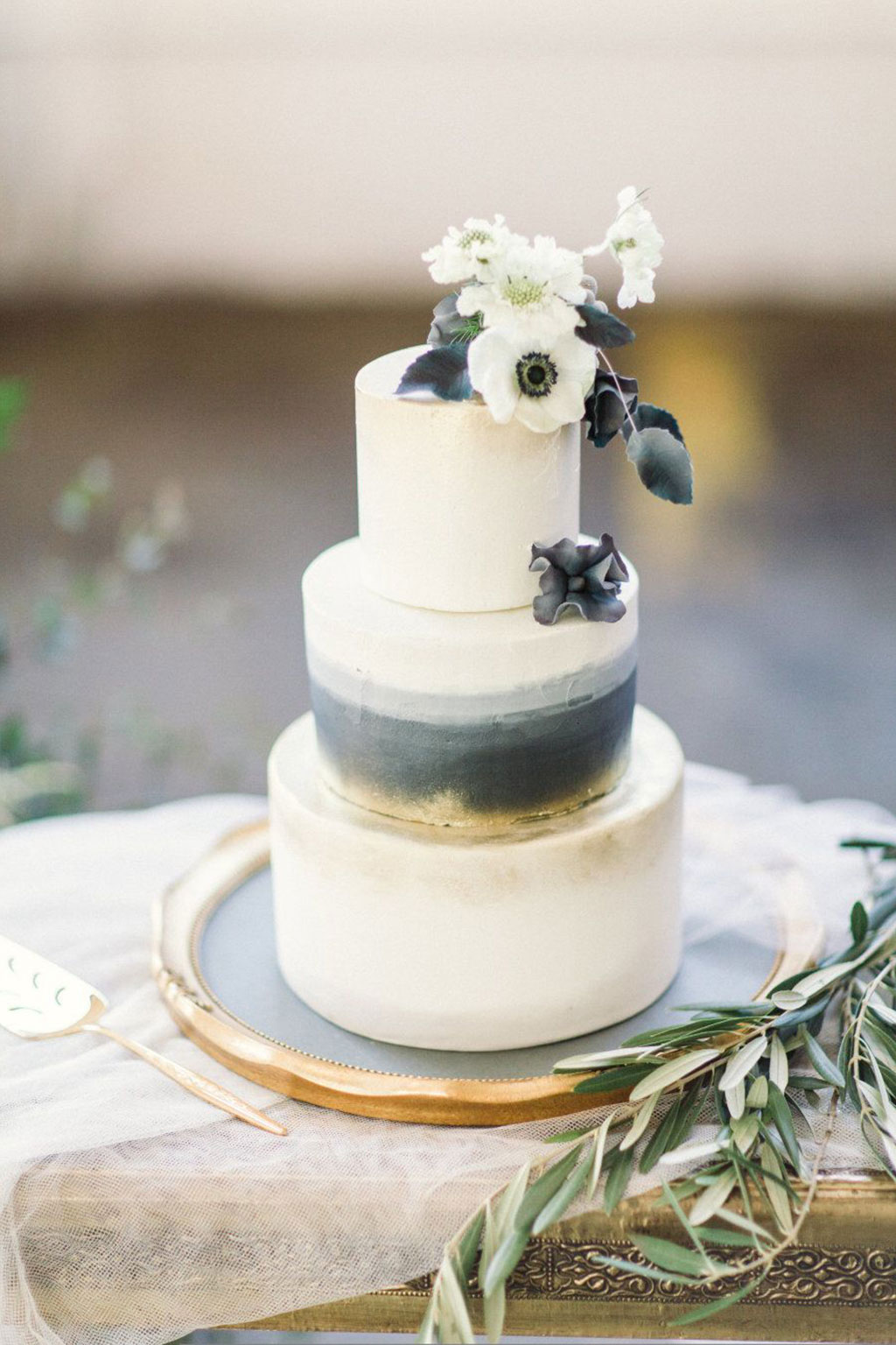 елегнатна торта со омбре ефект